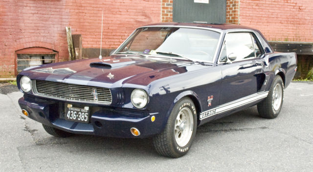 Ford Mustang Coupe 1965 Blue For 6t07t100747 302 V8 Automatic Le Mans Stripes Many Shelby Parts