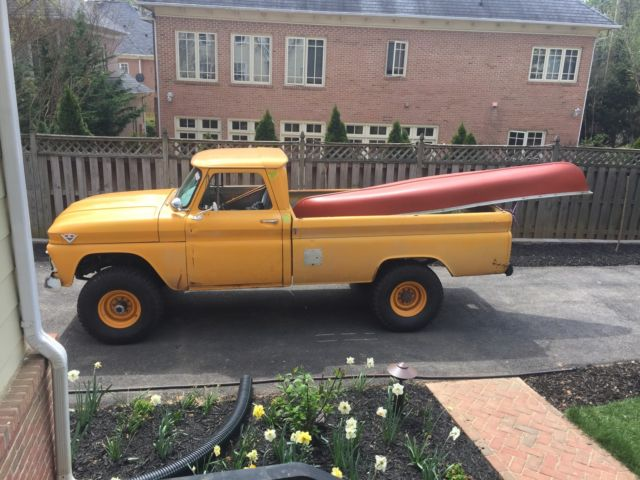 GMC K15/K20 Regular Cab Pickup 1965 Yellow For Sale