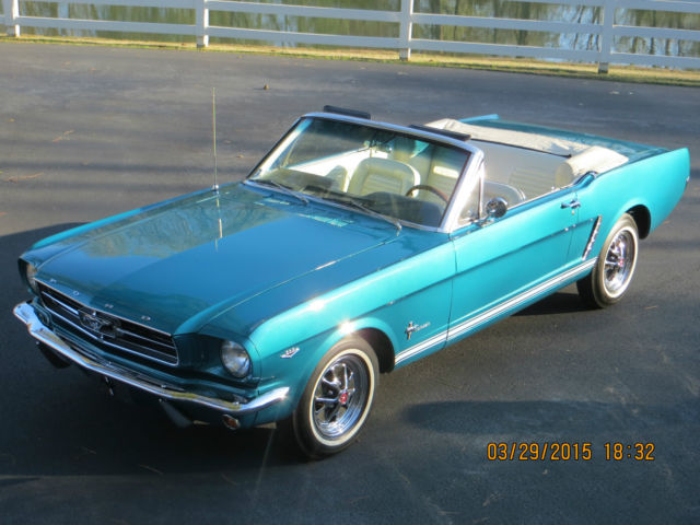 Mustang Convertibledynasty Green Metallic Beautiful Deep Turquoise Color on 1965 289 Mustang Engine Number Location
