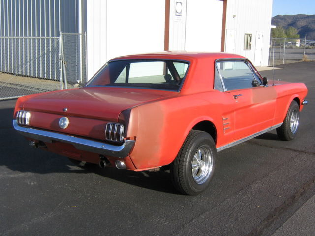 For Sale 65 Corsa Convertible Rolling Chassis California: Ford Mustang U/K 1966 Red For Sale. 6R07C234387 1966 66 65