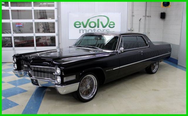 Cadillac deville coupe 1966 black for sale g6157000 1966 for 429 cadillac motor for sale
