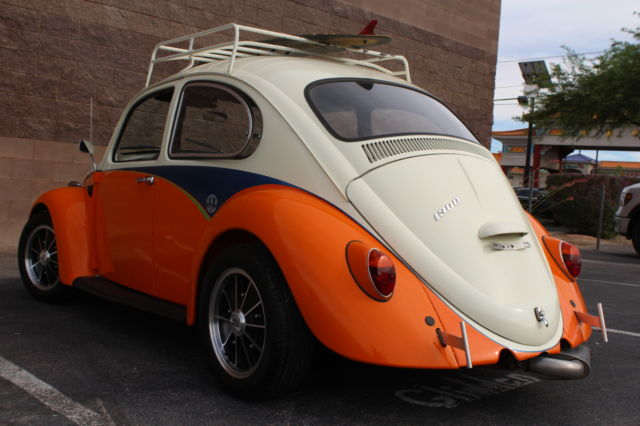volkswagen beetle classic coupe 1966 white orange for. Black Bedroom Furniture Sets. Home Design Ideas