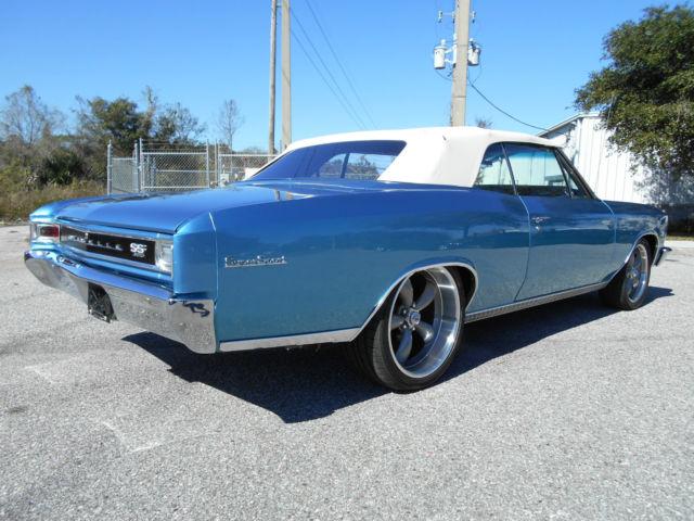 Chevrolet Chevelle Convertible 1966 Marina Blue For Sale
