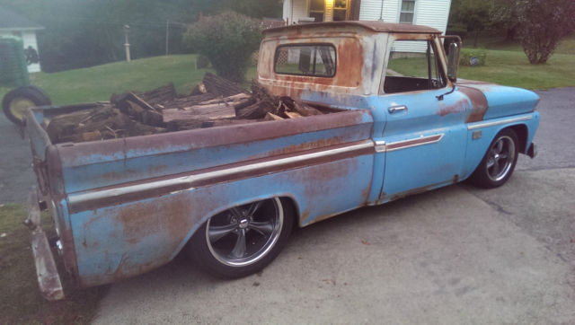 Chevrolet C-10 Standard Cab Pickup 1966 BLUE/WHITE For ...
