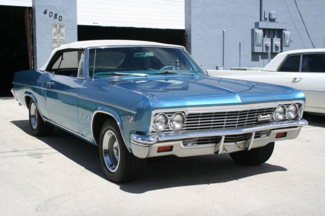 Chevrolet Impala Convertible 1966 Blue For Sale xfgivenvin