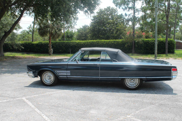 Chrysler 300 Series Convertible 1966 Blue For Sale