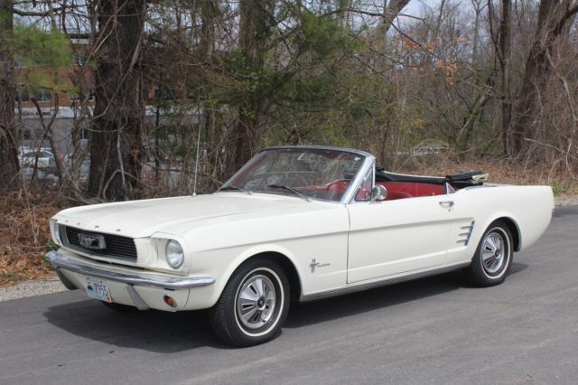 Ford Mustang Convertible 1966 White For Sale 1966