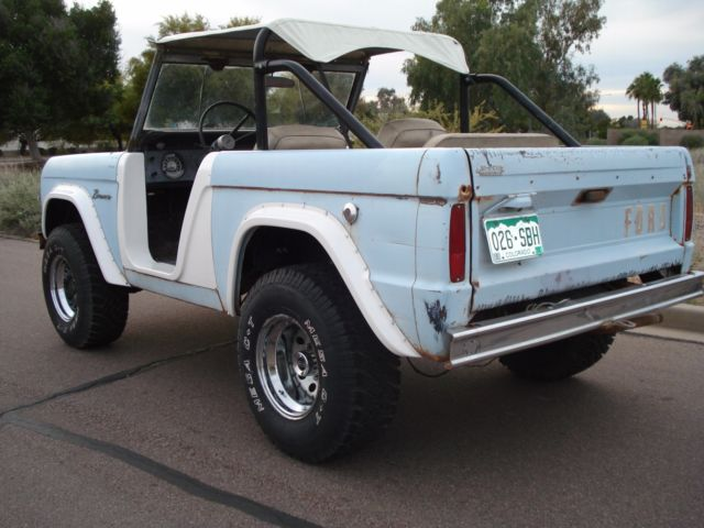 ford bronco convertible 1966 blue for sale u13fl732276 1966 ford bronco u13 factory roadster. Black Bedroom Furniture Sets. Home Design Ideas
