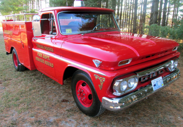 Gmc c2500 pickup truck 1966 fire engine red for sale for Gmc motors for sale