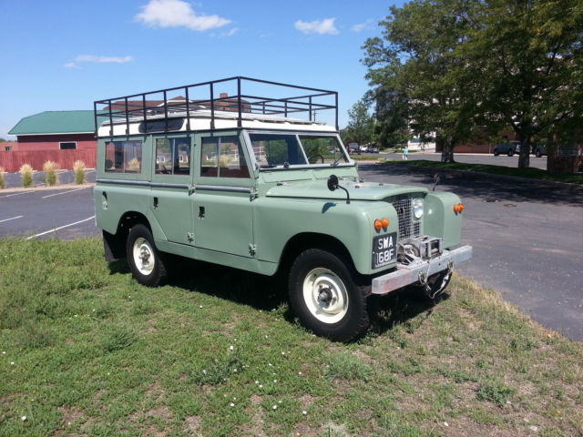 Land Rover Other SAFARI STATION WAGON 109 1966 SEA FOAM GREEN WITH