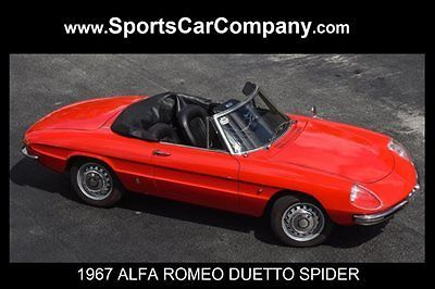 Alfa Romeo Spider Convertible Red For Sale AR ALFA - 1967 alfa romeo duetto spider for sale