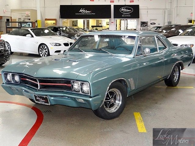 Buick Skylark Coupe 1967 Blue For 672354665 Gs 400 Numbers Matching V8 Engine