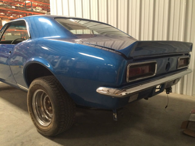 chevrolet camaro 1967 blue for sale 9999 1967 camaro rs ss 396 real project car 325 hp 4 speed. Black Bedroom Furniture Sets. Home Design Ideas