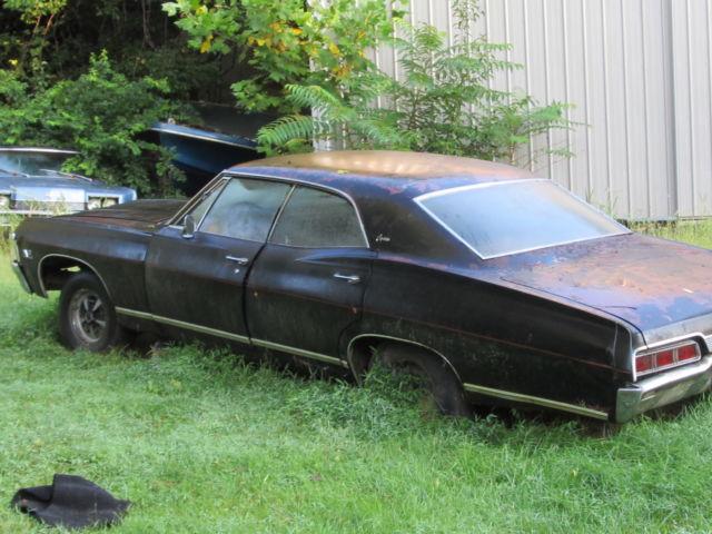 chevrolet impala 4 door hardtop 1967 black for sale 1967 chevrolet 4 door hard top supernatural. Black Bedroom Furniture Sets. Home Design Ideas