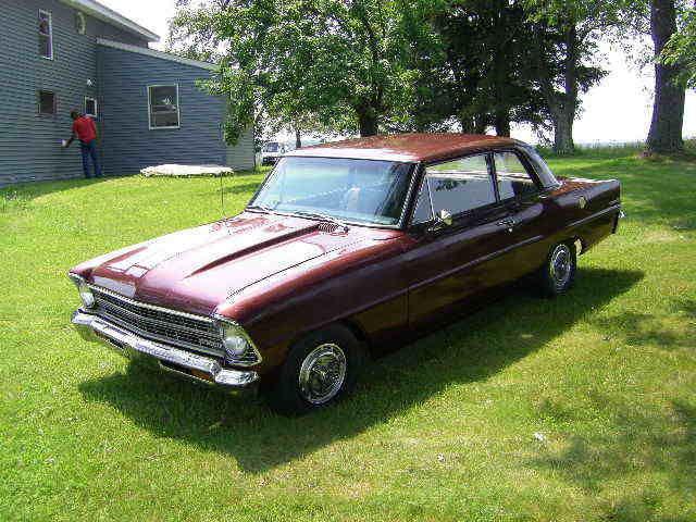 Chevrolet Nova 2 Door Post 1967 Burgundy For Sale