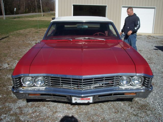 Chevrolet Impala CONVERTIBLE 1967 RED For Sale. 1967 CHEVY ...