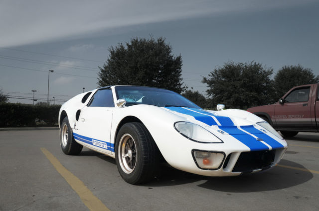 Replica Kit Makes Ford Gt Coupe  White For Sale  Ford Gt Replica Kit