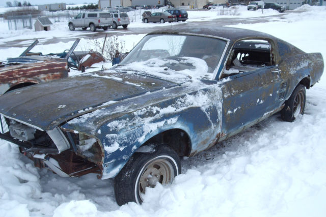 1967 Ford Mustang Fastback Project Car For Sale: Ford Mustang 1967 Blue For Sale. 7F02C225482 1967 Ford