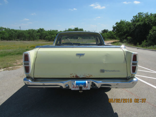 Ford Ranchero Coupe 1967 Springtime Yellow For Sale