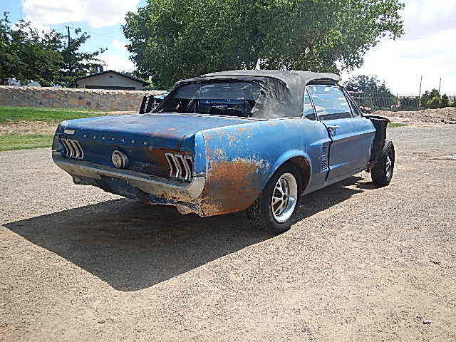 Ford Mustang Convertible 1967 Blue For Sale  7F03S198129 1967
