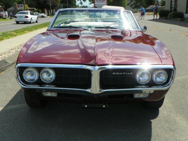 Pontiac Firebird Convertible 1967 Red For Sale