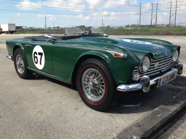 Triumph Tr4a Irs Convertible 1967 British Racing Green For Sale