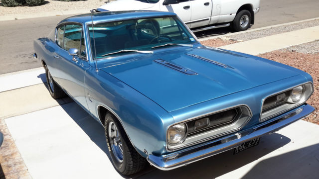 Plymouth Barracuda 1968 Ice Blue For Sale. BH29B8B432088 1968 Barracuda fastback restored ...