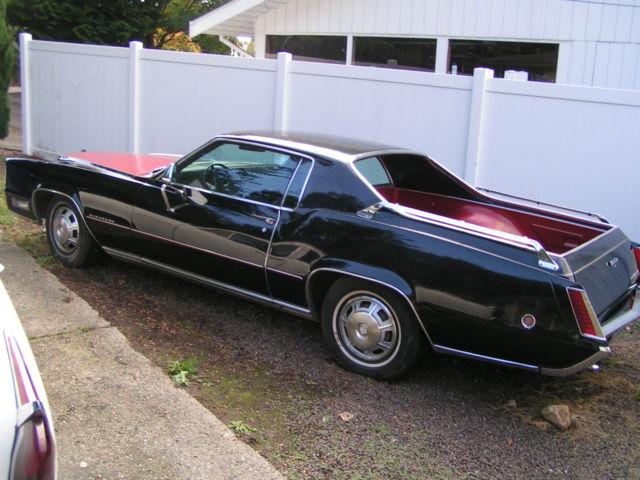 Cadillac Eldorado Hardtop 1968 Black Red Combination For
