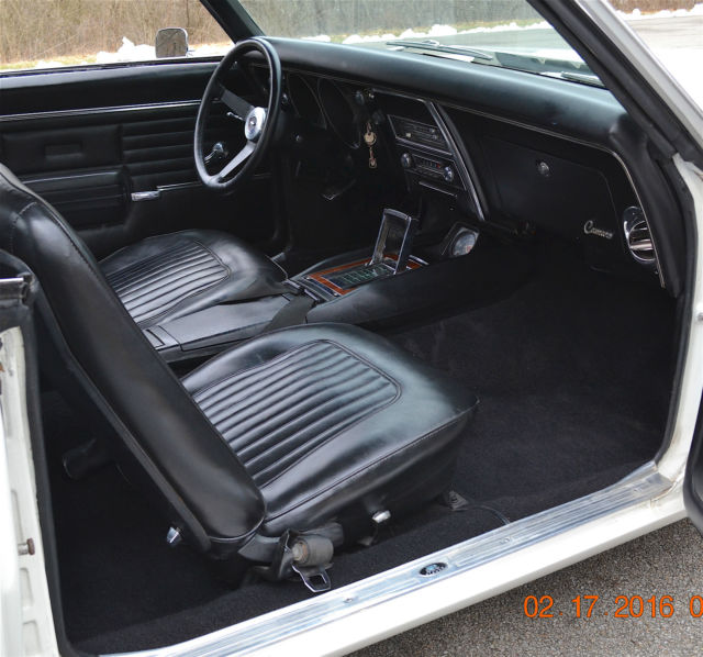 Chevrolet Camaro Coupe 1968 DOVER WHITE For Sale  12 1968