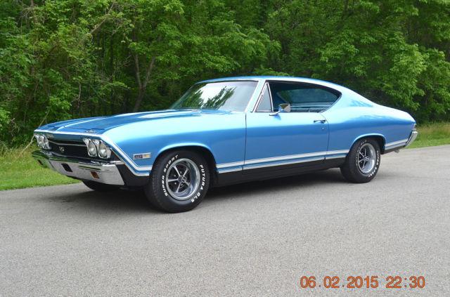 Chevrolet Chevelle Coupe 1968 Lemans Blue For Sale 13