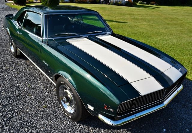 chevrolet camaro coupe 1968 green for sale 124378n450230 1968 chevrolet camaro z28 rally sport. Black Bedroom Furniture Sets. Home Design Ideas