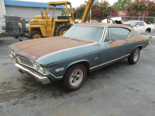 Chevrolet Chevelle 2 door coupe 1968 blue For Sale