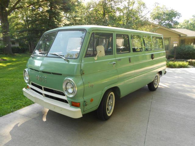 dodge a 100 108 family wagon camper conversion van van 1968 mint green for sale 1968 dodge. Black Bedroom Furniture Sets. Home Design Ideas