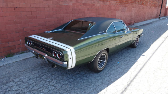 Dodge Charger Coupe 1968 Green For Sale Xs29l8b403693