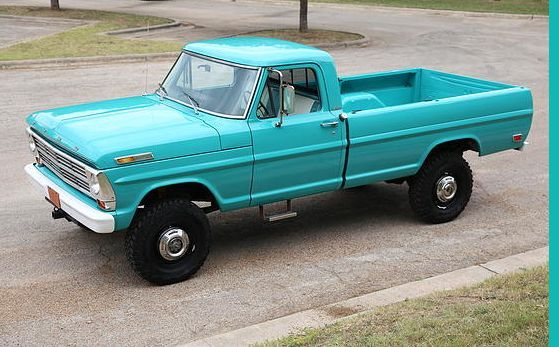 Ford F 250 1968 Aqua Blue For Sale F26yrd28032 1968 Ford