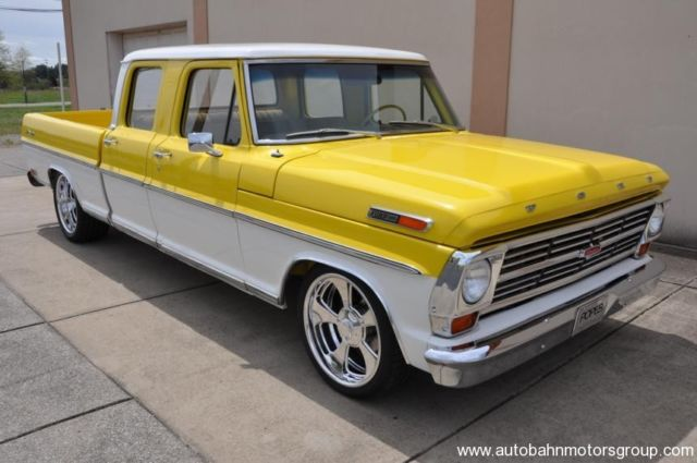 Ford F 100 Extended Crew Cab Pickup 1968 Yellow For Sale 1968 Ford