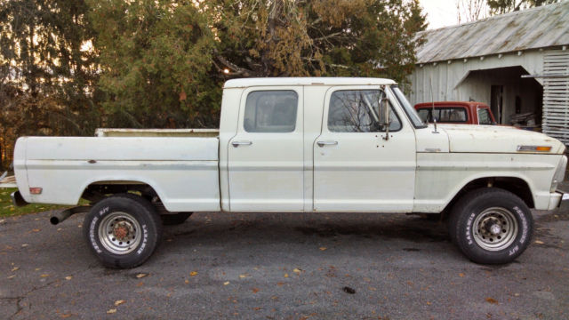 Ford F-250 Crew Cab Pickup 1968 White For Sale. 1968 Ford ...