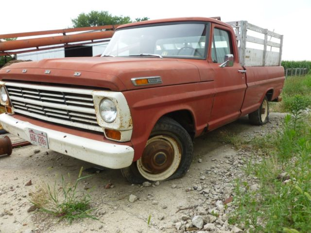 Ford F-250 Standard Cab Pickup 1968 Red For Sale ...