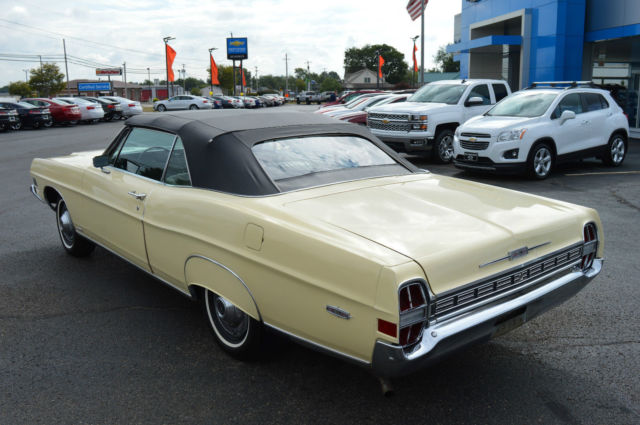 Ford galaxie convertible 1968 yellow for sale 8u61z102818 for Ford used motors for sale