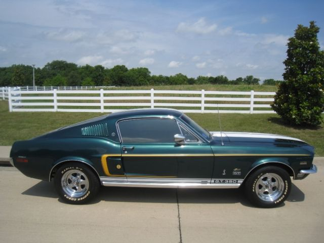 Ford Mustang Other 1968 Green For Sale  8R02J****** 1968
