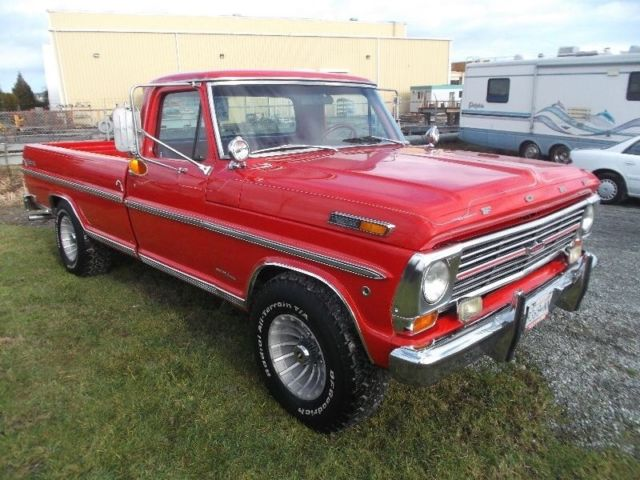 ford   standard cab pickup  red  sale