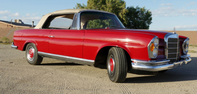 Mercedes benz 200 series convertible 1968 red for sale for 1968 mercedes benz 280 se convertible