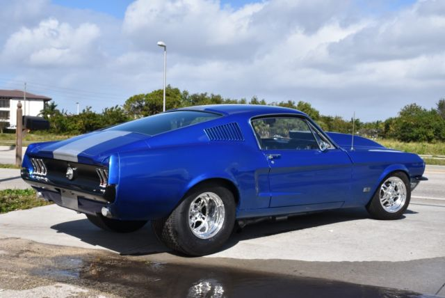 Ford Mustang Fastback 1968 Daytona Electric Blue Metallic For 8f02si62372 390gt