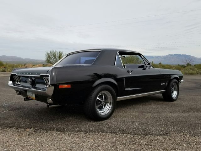 Ford Mustang Coupe 1968 Black For Sale 8r01c105973 1968