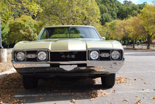 Oldsmobile 442 Coupe 1968 Willow Gold For Sale
