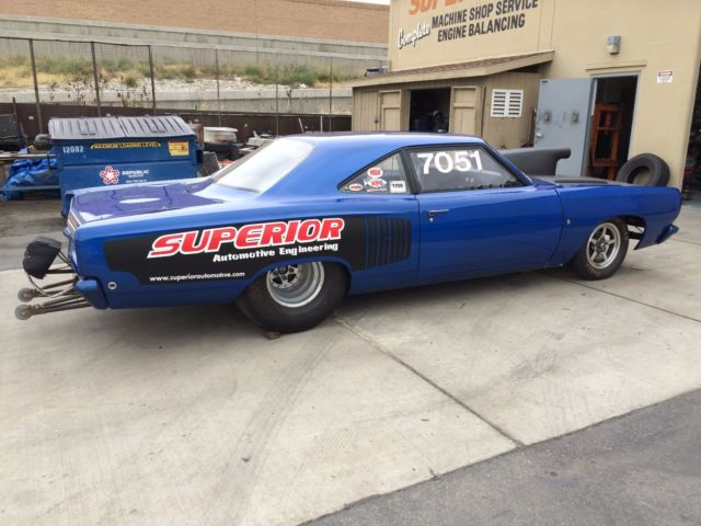 plymouth road runner coupe 1968 blue for sale 1968 plymouth road runner 1053hp race drag car. Black Bedroom Furniture Sets. Home Design Ideas
