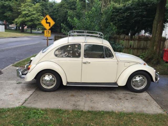 Volkswagen Beetle Clic Sedan 1968 Cream For 118442509 Rare Auto Stick Vw Bug