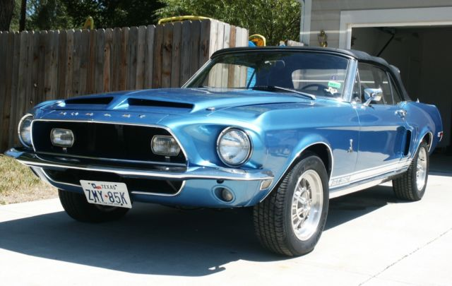 Shelby Mustang Gt350 Covnertible 1968 Blue For Sale