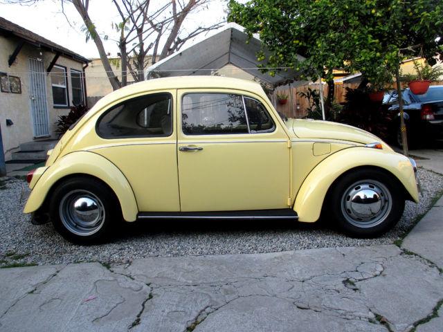 Volkswagen beetle classic coupe 1968 yellow for sale for Garage volkswagen flers