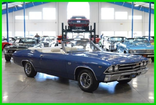 Chevrolet Chevelle Convertible 1969 Blue For Sale 136679B402464 SS 396ci V8 350hp 4 Speed AACA Grand National Winner